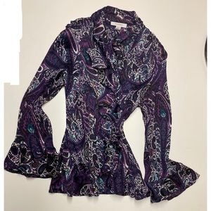 Purple Paisley print blouse